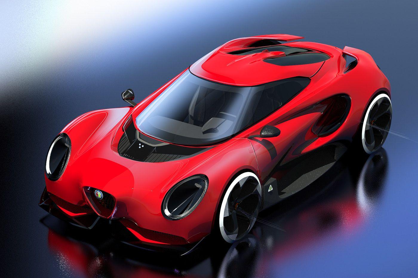Toyota tasarımcısından yeni bir Alfa Romeo 4C tasarımı geldi.
