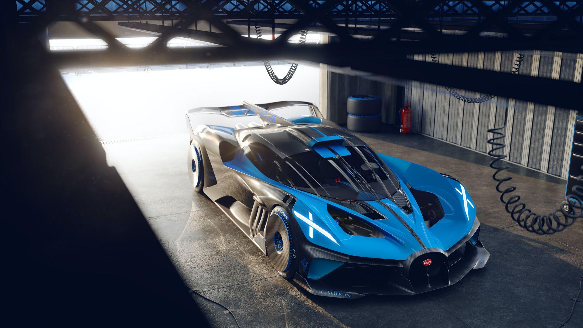 Bugatti 1850 hp'lik Bolide ile kendini aştı
