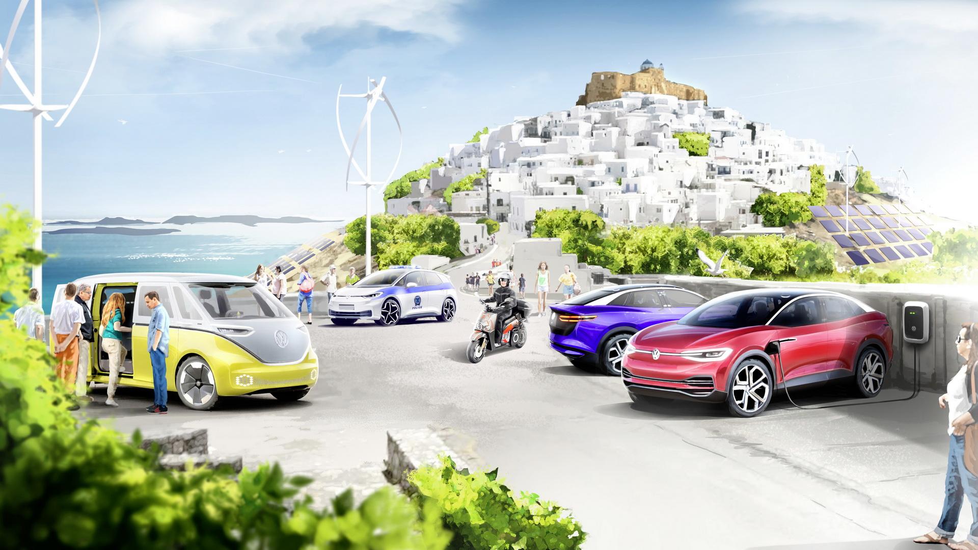 """Volkswagen, Yunanistan'da """"elektrikli araç"""" adası oluşturacak"""